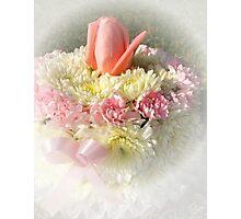 Birthday, Anniversary, Baby Girl, Breast Cancer Survivor Cake Photographic Print