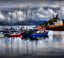 Harbour at Kyleakin, Loch Alsh, Isle of Skye. Scotland. by photosecosse /barbara jones