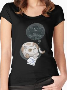 Cats rule the world Women's Fitted Scoop T-Shirt