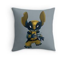 Stitch Wolverine Throw Pillow