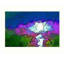 Colorized SunSet Art Print