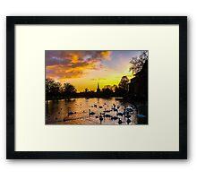 Colourful Sunset on the River Avon Framed Print