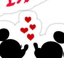 Minnie & Mickey - Stroke  Sticker