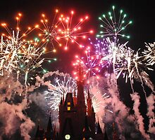Fireworks Over Cinderella Castle by dlr-wdw