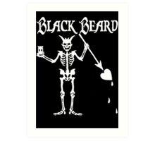 Black Beards Flag Art Print