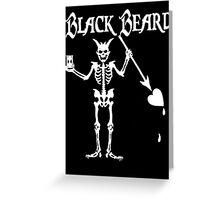 Black Beards Flag Greeting Card