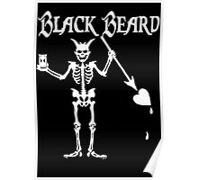Black Beards Flag Poster