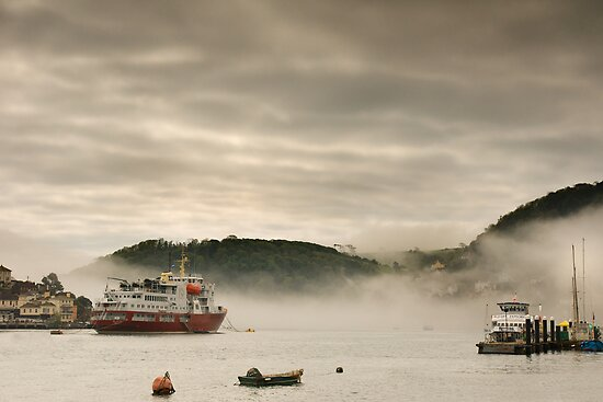 Dartmouth Harbour in the fog by Robert Kendall