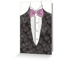 Mister Bow tie Greeting Card