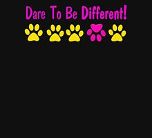 Dare to Be Different!  paw prints T-Shirt