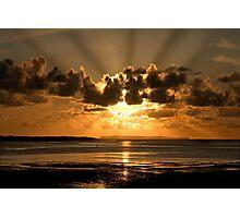 Instow sun rays Photographic Print