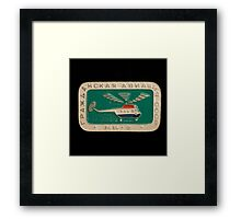 Soviet badge  helicopter MI 2 Framed Print