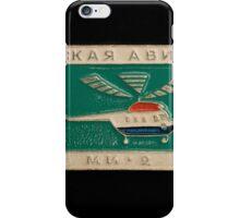 Soviet badge  helicopter MI 2 iPhone Case/Skin