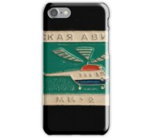 Soviet badge  helicopter MI 2 iPhone Case/Skin