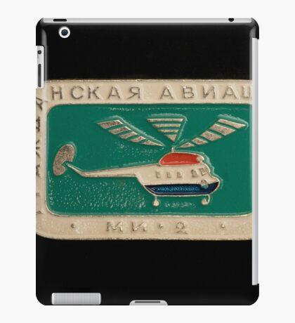 Soviet badge  helicopter MI 2 iPad Case/Skin