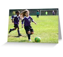 Soccer Determination Greeting Card