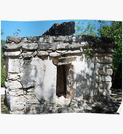 Mayan Ruin near Tulum Poster