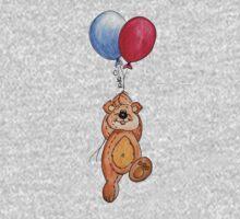 Flying away bear One Piece - Long Sleeve