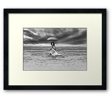 RAINDROPS KEEP FALLING ON MY HEAD Framed Print