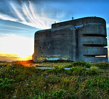 German Fire Control Tower Alderney by James Vizard