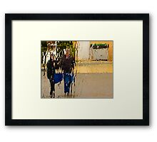 GET OUT OF THE WAY 2 Framed Print
