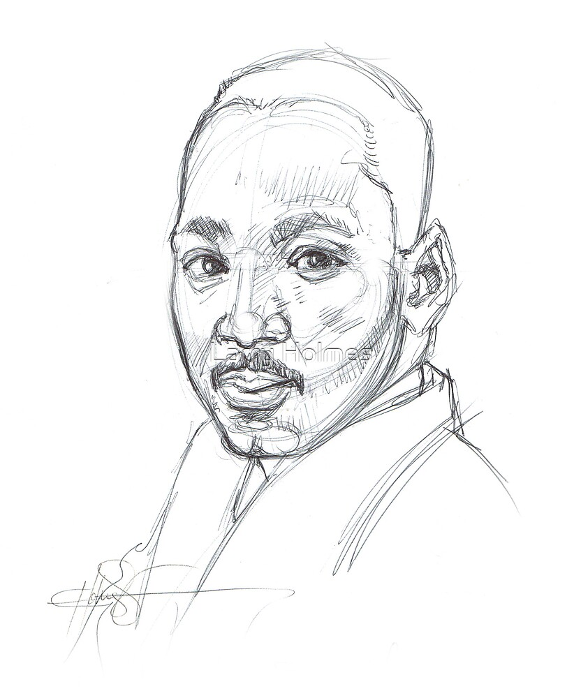 MLK - 5 minute sketch by Larry Holmes