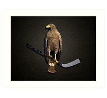 Polyhawk on Black Art Print
