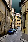 FLORENCE BETWEEN RAINS (CARD ONLY) by Thomas Barker-Detwiler