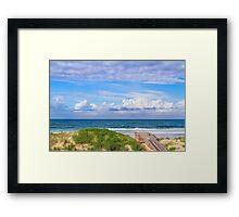 Ocean Beach Dunes Framed Print