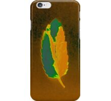 Peaceful Leaf - Green & Gold iPhone Case/Skin