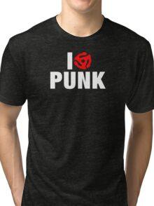 Skeleton Flames Guitar Player Tri-blend T-Shirt