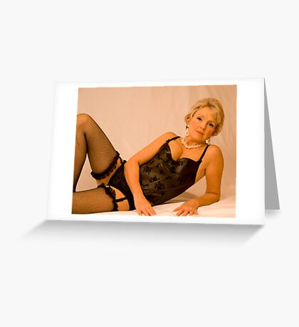 Fishnets And Pearls Greeting Card