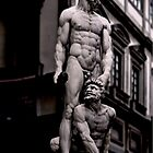 STATUE OF HERCULES AND CACO OF BACCIO BANDINELLI, PIAZZA DELLA SIGNORIA IN FLORENCE, ITALY  (CARD) by Thomas Barker-Detwiler
