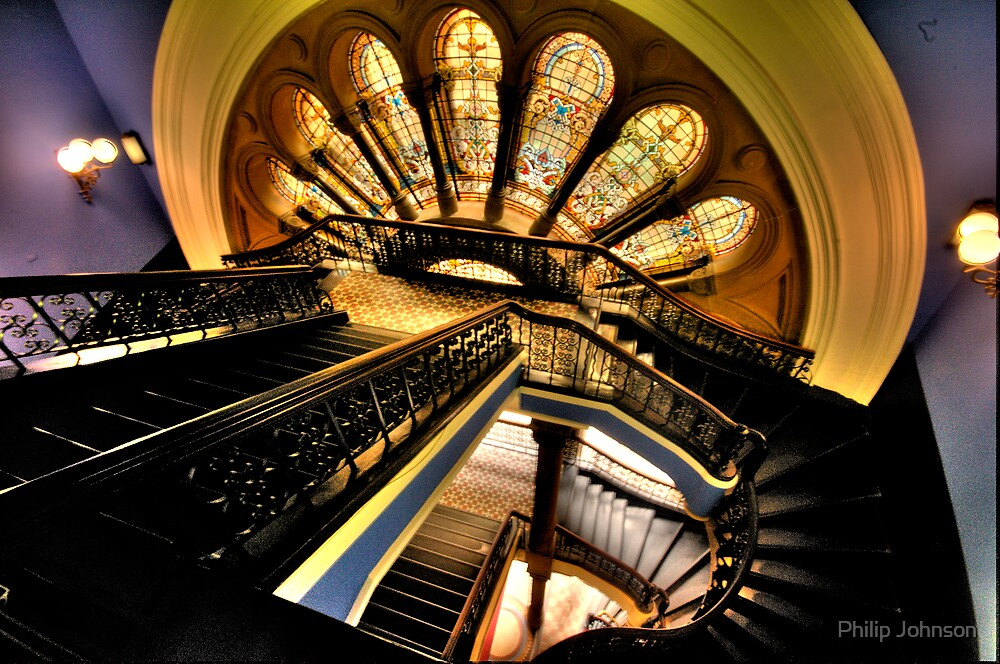 """""""The Grand Staircase"""" - The Queen Victoria Building, Sydney - The HDR Experience by Philip Johnson"""