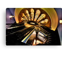 """""""The Grand Staircase"""" - The Queen Victoria Building, Sydney - The HDR Experience Canvas Print"""