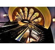 """""""The Grand Staircase"""" - The Queen Victoria Building, Sydney - The HDR Experience Photographic Print"""