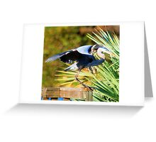 Blue Move Greeting Card