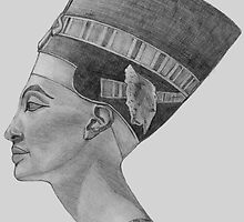 Nefertiti sketch by Marilyns