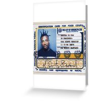 Ol Dirty Bastard - Return to the 36 Chambers: The Dirty Version Greeting Card