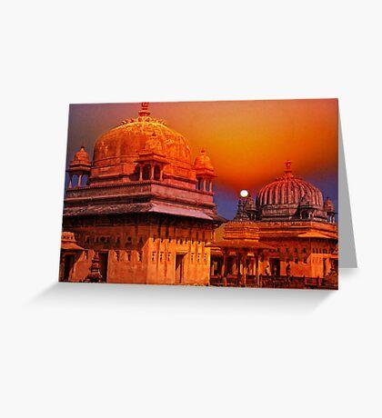 Palaces at Orchha, India Greeting Card