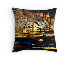 The Banks of Boulders Throw Pillow