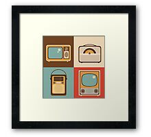 Retro technology Framed Print