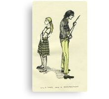 Lily & Sev Canvas Print