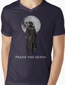 Praise The Moon Mens V-Neck T-Shirt