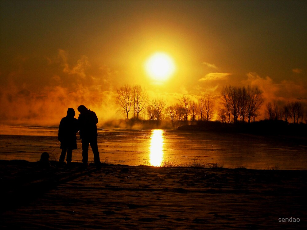 sunrising ( looking at the sun).... by sendao