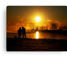 sunrising ( looking at the sun).... Canvas Print