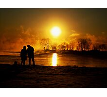 sunrising ( looking at the sun).... Photographic Print