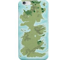 Topographic Map of Westeros iPhone Case/Skin