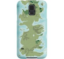 Topographic Map of Westeros Samsung Galaxy Case/Skin