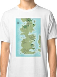 Topographic Map of Westeros Classic T-Shirt